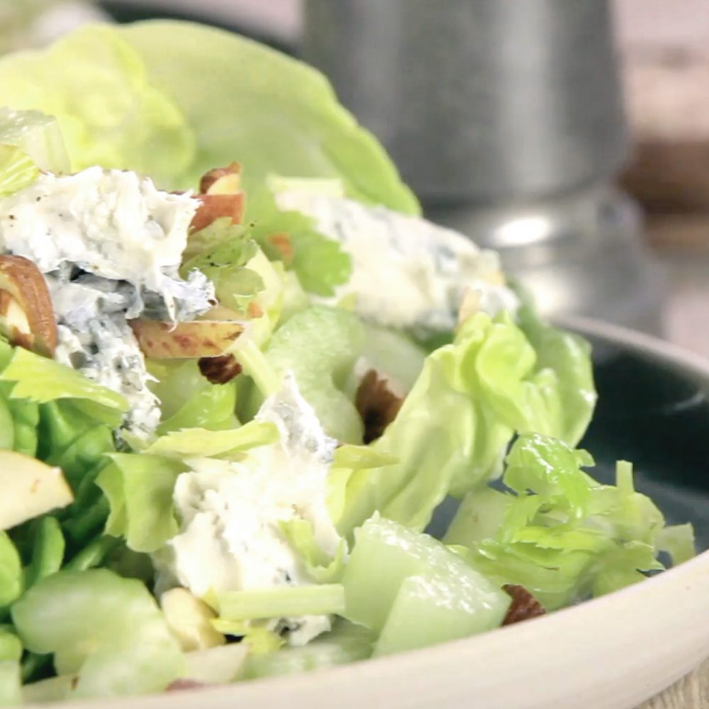 Celery, Pear, and Blue Cheese Salad