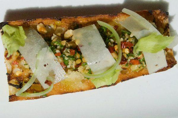 celery and hazelnut toast